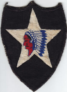 Korean War 2nd Infantry Division Patch- Japanese-made