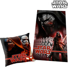Star Wars Set Coperta Pile 100 x 150 cm + Cuscino 40 x 40 cm Letto Bambini Kids