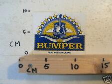 STICKER,DECAL BUMPER REAL WESTERN JEANS TREIN TRAIN NOT 100 % OK