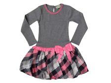NWT Girl's Sophie Catalou Gray Pink Drop-Waist Gia Dress $84 - Choose Size