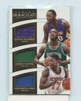 2014-15 Immaculate Collection Trios Materials #D /99 Randle / Young / Early