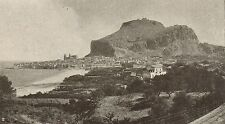 D1035 Palermo - Cefalù - Panorama - Stampa antica - 1917 old print