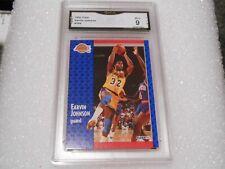 Magic Johnson GRADED CARD!! Mint 9!! 1991 Fleer #100 Lakers HOFer! 9-1!