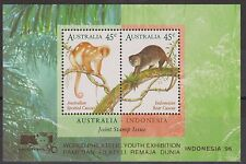 Stamp Australia Indonesia Joint Issue Exhibition Minisheet M/S 1996 Cuscus