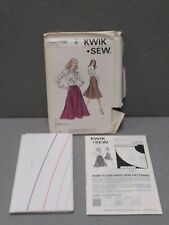 KWIK SEW PATTERN 1102 UNCUT Vintage 1980s Miss Size XS - L TIE WRAP SKIRT