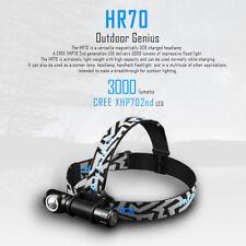 Imalent HR70 Cree LED 3000 lumens outdoor headlamp USB recharge flashlight torch