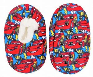 DISNEY CARS Fuzzy Babba Slippers Sizes 2T-3T (Shoe 5-7) or 3T-4T (shoe 8-10) NWT