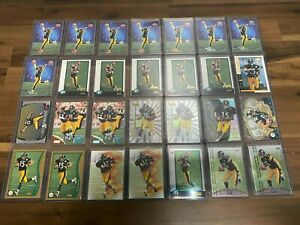 (28x) HINES WARD ROOKIE CARD LOT TOPPS BOWMAN CHROME EX CENTURY FINEST RC INVEST