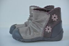 1fe8a18c51 NEW Clarks Pippy Dusk Girls 5 M Toddler Purple Sparkle Leather Flower Ankle  Boot