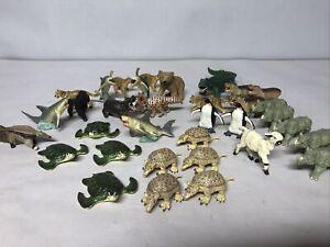 Lot 34 Safari Ltd Animal Figurines Rhinos Hippos Cheetah  & Sea & More