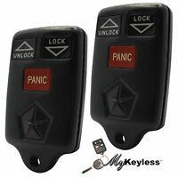 OEM Chrysler Dodge Jeep Replacement Keyless Entry Remote Key Fob Alarm - Pair
