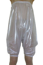 Pearly Clear White PVC Pants Bloomers Sissy Play Suit Plastic Romper  XL XXL