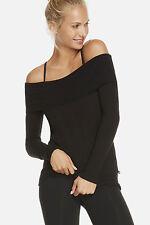 Fabletics Psyllos Off The Shoulder Sweater Jumper XL/18-20 Uk BNWT RRP £62 Black