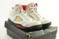 Nike Air Jordan Retro 5 Fire Red White Red Boys Sz 3Y DS BRAND #440889-100