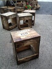 stool or mini table rustic wooden old vintage industrial timber bar cafe stool