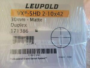Leupold 171386 VX-5HD 2-10x42mm Duplex Reticle Riflescope
