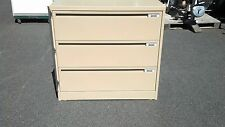 """*FILE CABINET 3 DRAWER LATERAL 42""""w/lock bar Harbor Tan We Deliver Locally NorCA"""