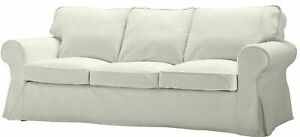 New Original IKEA cover set for Ektorp 3 seat sofa in BLEKINGE WHITE 800.476.02