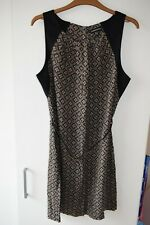Warehouse Green Black Tribal Printed Dress Size UK 12