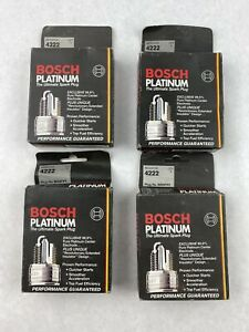 Lot of 4 Packs of 4 (14 ct) Platinum Plus Spark Plug Bosch 4222 Plug No. WR9FPY