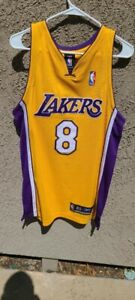Kobe Bryant L.A.Lakers #8 NBA Authentic Reebok Jersey Sz 40 Excellent Condition