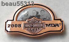 HARLEY DAVIDSON NATIONAL HOG RALLY MDA 2008 105th JERRY LEWIS KIDS VEST PIN
