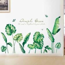 Large Tropical Leaf Wall Stickers Nursery Home Decor PVC Vinyl Decal Art Mural