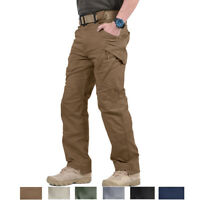 IX9 Mens Tactical Cotton Cargo Pants Military Trousers Army Workout Sports Pants