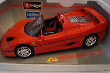 Bburago Burago Modellauto 1:18 Ferrari F50 1995 Monza Red Standox *in OVP*