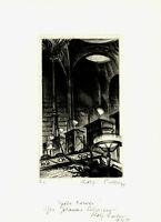 Rolf Escher: Später Besuch. [19]94. Signierte Original-Radierung.