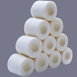 AU 20 COHESIVE White BANDAGES 5cmx5mt Sport,Physio,Tatoo,Dogs,Cats,Medical,Horse