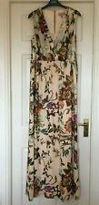 Ted Baker Talla 8 (1) Hermoso Verano Vestido Maxi Floral Crema Cristen Longitud Completa