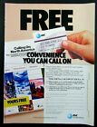 1987 AT&T Calling On North America Travel Coupons Magazine Ad