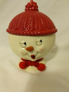New Ceramic Snowman Mini Candy Or Cookie Dish