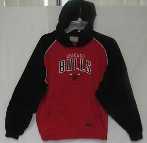 REEBOK NBA Chicago Bulls VTG 90s Men's Red Black Hoodie Sweatshirt Size Large