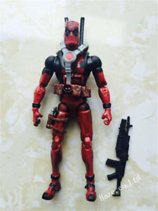 X-Man Red DEADPOOL Action Figure Comic Series Collection Kids Toy