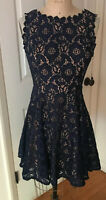 City Studio Dress A-line Sleeveless Lace Navy Blue Prom Party NEW size 7 Juniors