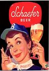 Schaefer Beer - Brooklyn Dodgers METAL counter display sign