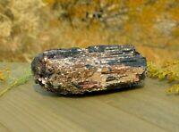 Black Tourmaline Schorl Large Rough Specimen 435g With Pink Silver Mica & Quartz