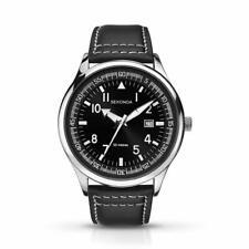 Sekonda Mens Black Dial Black Leather Strap Watch 1461 RRP £44.99