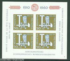 SWITZERLAND  1960 PRO PATRIA SOUVENIR SHEET SCOTT#B297 MINT NH