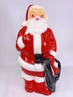 "Vintage Empire Plastic 13"" Blow Mold Santa Claus With Light 1968"