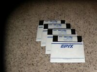 "EPYX The Games IBM PC Game 5.25"" disks"
