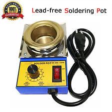150W 50mm Solder Pot Soldering Desoldering Bath Titanium Plate 110V 220V 500G
