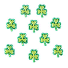 10pcs St Paddy St. Patrick's Day Clover Shamrock Resin Flatback Hair Bow Crafts