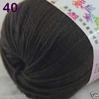 Sale 1 Skein x50g Baby Cashmere Silk Wool Children hand knitting Crochet Yarn 40