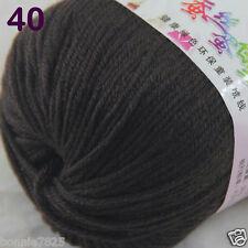 1 Skein X50g Baby Cashmere Silk Wool Children Hand Knitting Crochet Yarn 40