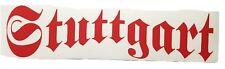 Aufkleber Autoaufkleber Stuttgart für Heckscheibe, Heckklappe, Motorrad rot