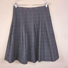 Isaac Mizrahi Target Gray Black Red Plaid School Girl Pleat Full A Line Skirt 8