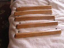 Vintage Modern Wood Set Drawer Handles Lot 5
